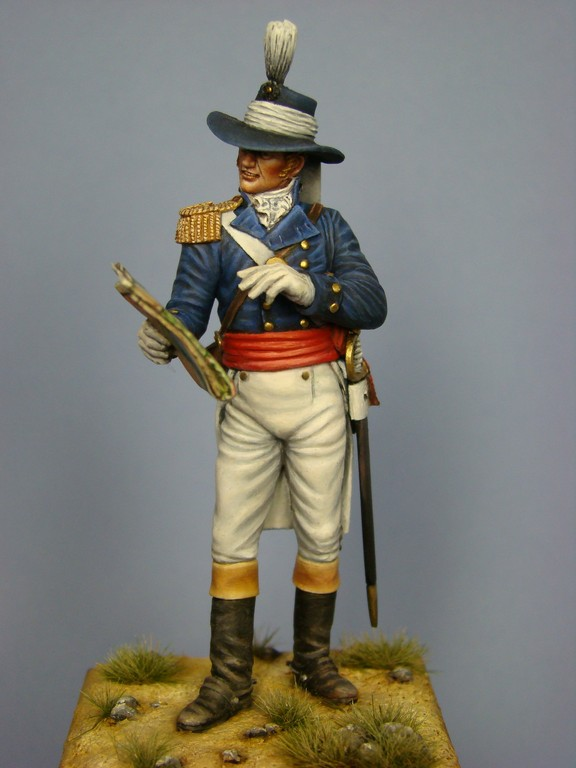 Picture of the finish Captain John Blakiston Royal Engineer at Assaye from Hawk Miniatures