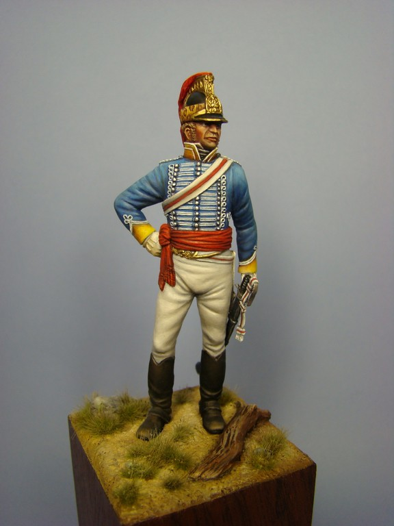 Picture of the finish Lieutenant Colonel Patrick Maxwell, 19th Light Dragoons at Assaye from Hawk Miniatures