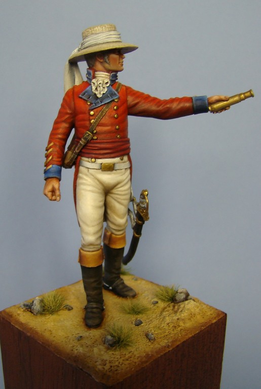 Picture of the finish Arthur Wellesley at Assaye from Hawk Miniatures