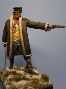 Picture of the finish Lt. Souter Figure from Hawk Miniatures